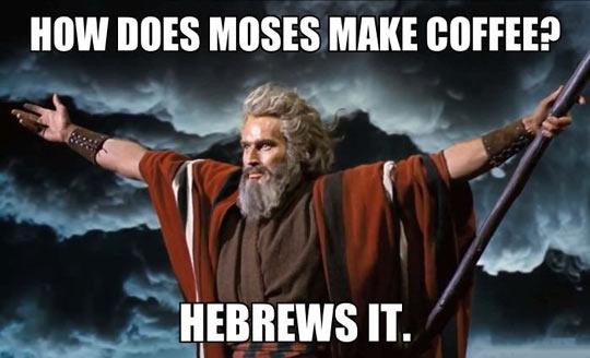 Mozes over koffie
