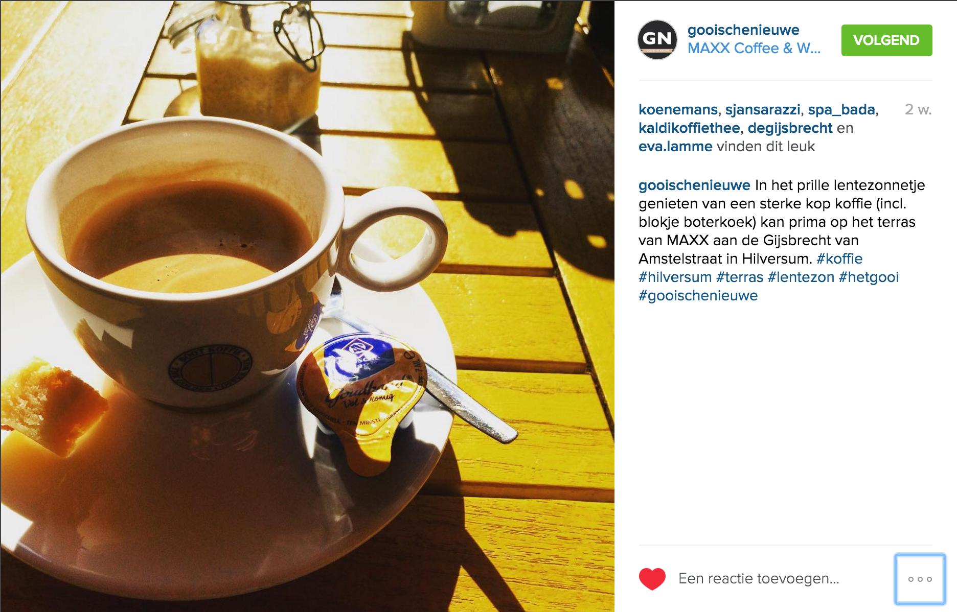 Koffie op instagram
